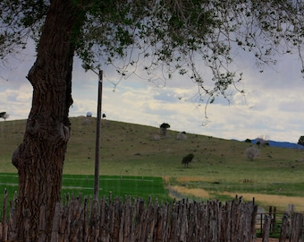 Rustic Log Fence Utah Countryside Photograph Meadow Scene Morman Photography by Colleen Cornelius Bring the Outdoors In Zen Home Decor