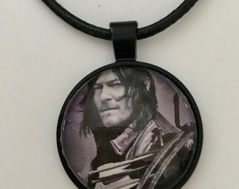 The Walking Dead Daryl Dixon Necklace on Faux Leather Cord