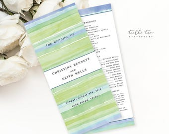 Sandy Shores - Wedding Programs (Style 13625)