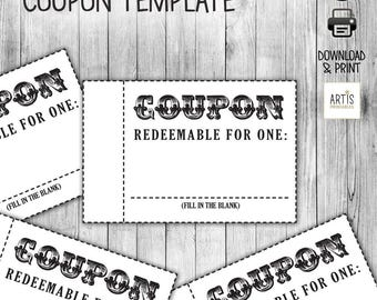Coupon Book, Coupon for game, Empty Love Coupon, Date DIY Coupon, Love Coupons, Love Coupon Book, Love Coupons for Him/Her, coupon template