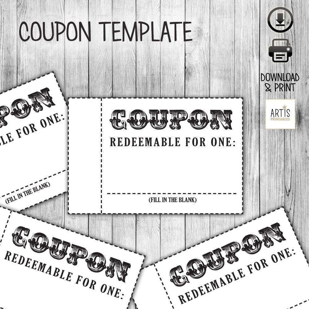 Coupon book coupon for game empty love coupon date diy for Coupon book template for husband