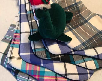 Custom Personalized Tartan Christmas Stocking