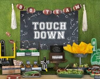 Football party kit, Football birthday printable decor, Superbowl party kit, Superbowl printable decor, Sports Party, American Football