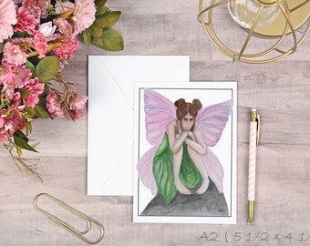 Little Fairy Greeting Card Blank with Envelope
