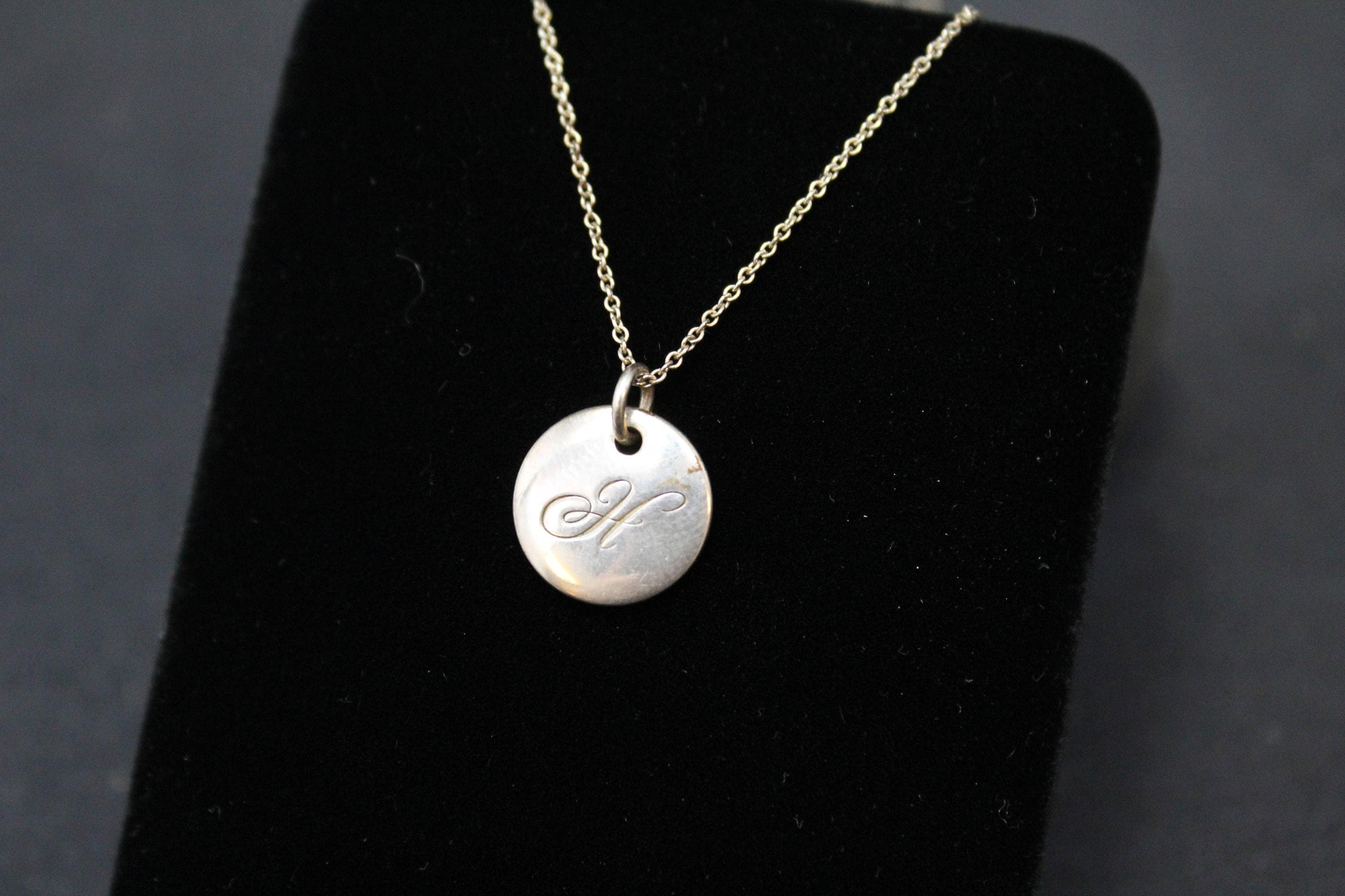 Tiffany company notes initial h disc necklace tiffany h charm tiffany company notes initial h disc necklace tiffany h charm tiffany h pendant tiffany and company h necklace tiffany alphabet aloadofball Images