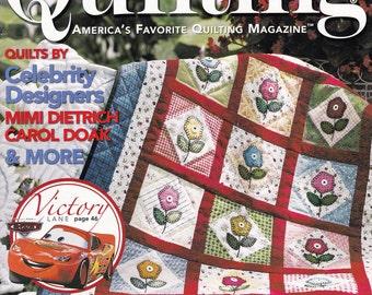 Fons & Porter's 'Love of Quilting' America's Favorite Quilting Magazine, Jul/Aug 2006, Celebrity Quilt Designer Patterns, Quilt Techniques