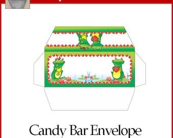 Frog Love Candy Bar Envelope