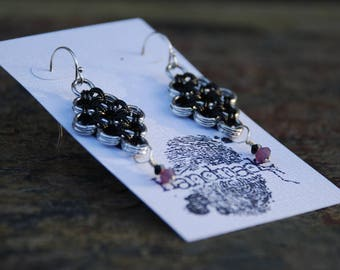 Japanese Diamond Chainmaille Earrings