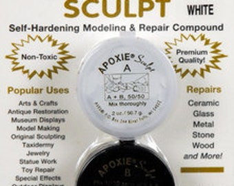 KIT includes: 1/4 lb WHITE Apoxie Sculpt - DIY, Snap Jewelry, Aves, Apoxie Sculpt, Model Making, Found Objects, Steampunk, Cosplay