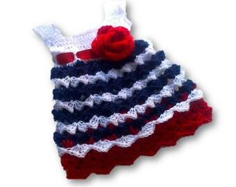 dress pattern, crochet pattern, baby dress pattern, baby pattern, baby girl dress, diy dress pattern, crochet baby dress, 4th of july dress