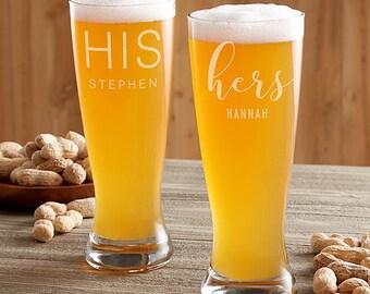 His & Hers (Set) Beer Glasses