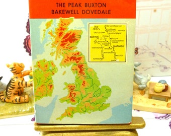 Ward Locks Red Guide to Matlock The Peak Buxton Bakewell and Dovedale 1960s  Vintage Travel Guide