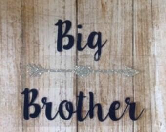 Big/Middle/Little Brother/Sister/Iron-On/Vinyl Decal/DIY/Custom/Sibling/Baby/Newborn/Hospital/Pregnancy/Shirt/HTV/Heat Transfer Vinyl