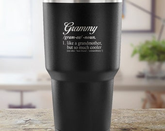 Grammy Vacuum Tumbler Cup - Travel Mug -  Dictionary Definition - Pregnancy Reveal, Birth Announcement, Grammy Gift