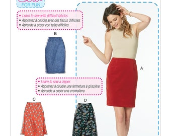 McCall's Sewing Pattern M7631 Misses' Skirts in Three Lengths