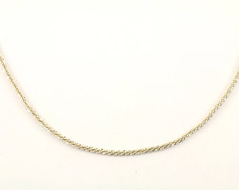 Vintage Italy Sparkle Chain Necklace 925 Sterling NC 1025