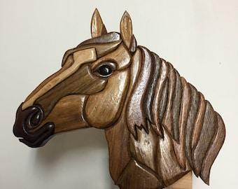 Intarsia Standup Horse Head