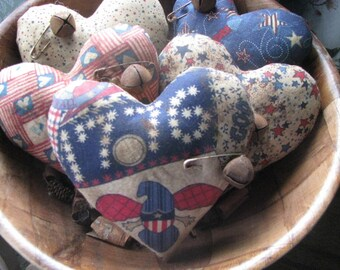 Patriotic bowl fillers, patriotic hearts, bowl fillers, 4th of July, July 4th, Americana, gift for her, hostess gift
