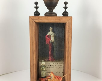 Can't Be Tamed, Assemblage Art, Mixed Media Art