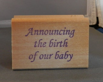 Announcing the birth of our baby