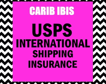 USPS International Shipping Insurance Add-on: Orders totaling up to 100 US Dollars or more
