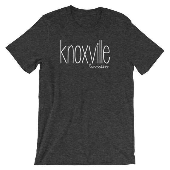 Knoxville Tennessee TN Unisex Men's Women's Short-Sleeve Unisex T-Shirt Shirt Tee City State