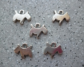 5 15 mm silver metal dog charms