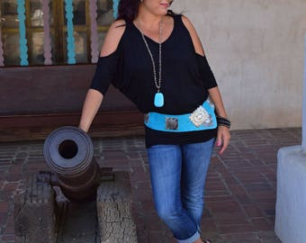 Western Leather Hip Belt