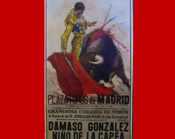 1983 Madrid Spain Bullfighter Poster