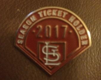 St Louis Cardinals enamel pin 2017 season ticket holder STL MLB NL cards