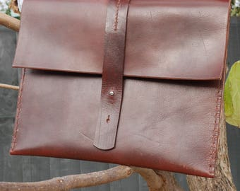 Recycled Saddle Leather Hand Stitched Shoulder Bag