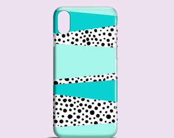 Mint and Dots phone case / doodle phone case / iPhone X / iPhone 8 / iPhone 7 / polkadots Samsung Galaxy S7, S6, S6 Edge, S5 / iPhone 6/6S