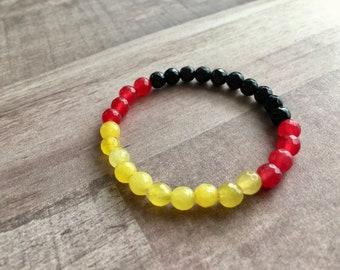 Germany Flag Jade Bracelet