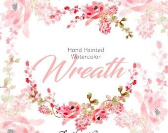 Watercolor Wreath Clipart  | Wedding Clipart | Watercolor Clipart | DIY Wedding | Watercolor Clipart | Wedding | Bridal | Shower  Invitation