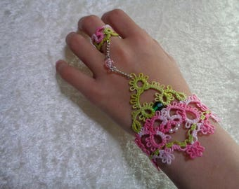 Hand tatted jewelry and beads