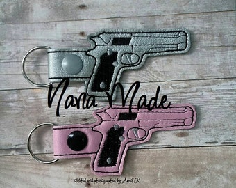 Pretend Pistol Snaptab Embroidery File