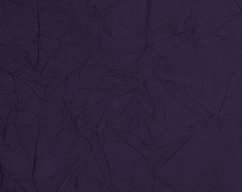 Purple Crinkle Cotton Fabric 7.5 yard piece