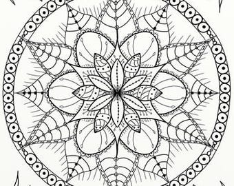 10 x Tangles, Celtic Knots & Mandala Adult Coloring Pages - Instant PDF Download for DIY A4 Printing 01