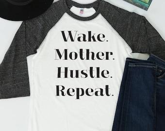 Mom Life Shirt Best Selling Items Graphic Tees Mother Hustle Baseball Tee Trending Now Mama Bear Gift for Her Mommin' Aint Easy Mom Boss