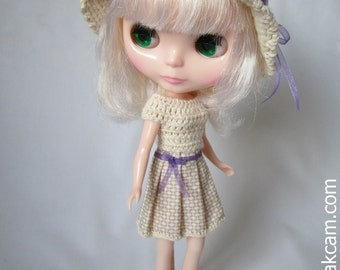 PDF Crochet Pattern for Deniz Doll & Blythe Outfit