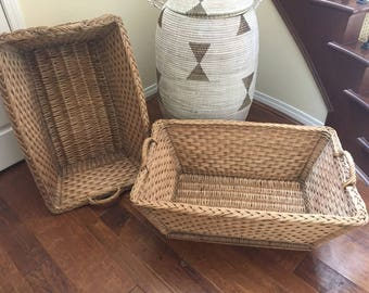 French Country Laundry Baskets/ Parisian Bedroom Decor
