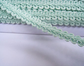 4 to 6 yards Medium Gimp Braid Trim 3/8 inch or 10mm Width - Choose Your Own Yards -Number 191 Pastel Green