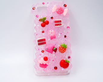 SuperSweet Pink Glitter Decoden Frosting iPhone 7 & 8 Phone Case