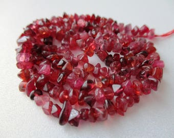 Red Spinel chip- 3mm- 7.5 inch