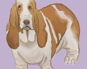 "CUSTOM PET PORTRAIT 9x12"" Digital Painting"