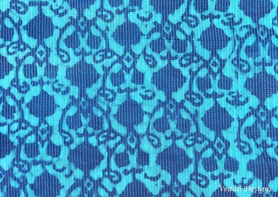 1 Yard 18 Long Fabric Remnant Indigo Mudcloth Indigo