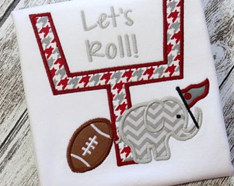 Machine Embroidery Design Applique Football Goal Elephant INSTANT DOWNLOAD