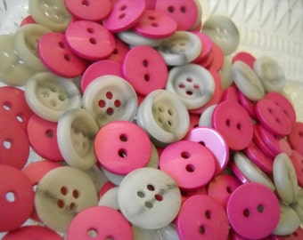 50 buttons- 15mm - plastic- ref- r010