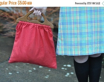 CLEARANCE SALE Vintage Red Clutch