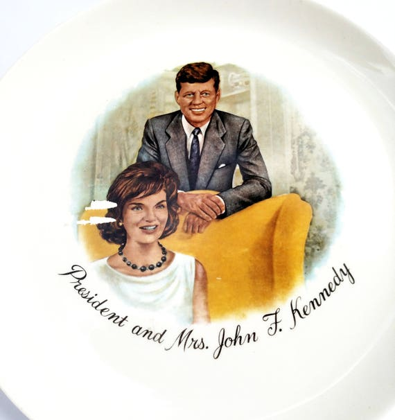 Vintage Collector Plate with President and Mrs. John F. Kennedy